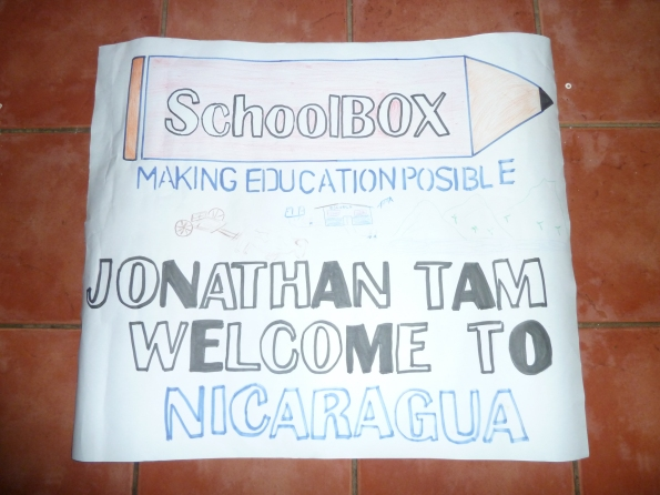 SchoolBOX Welcome Sign