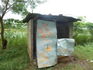 Bathroom for 628 students, and teachers at Sagrado Corazon de Jesus School near Leon Nicaragua