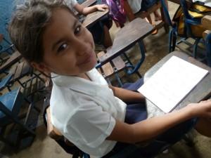 Girl studying at Jezreel School in the Anexo la Primavera in Managua